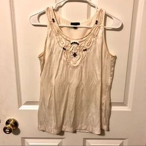*4/15* Ann Taylor Bedazzled Sleeveless Blouse